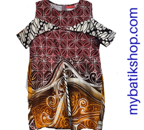 Karina Abstract Batik Tulis Dress Plus