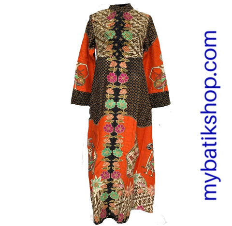 Moslem Dress Brushed Doby Orange Multi