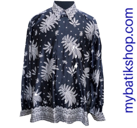 Batik for Men Silk Long-sleeves Black