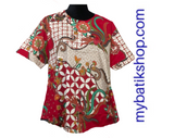 Batik Stretched Modern Red Top