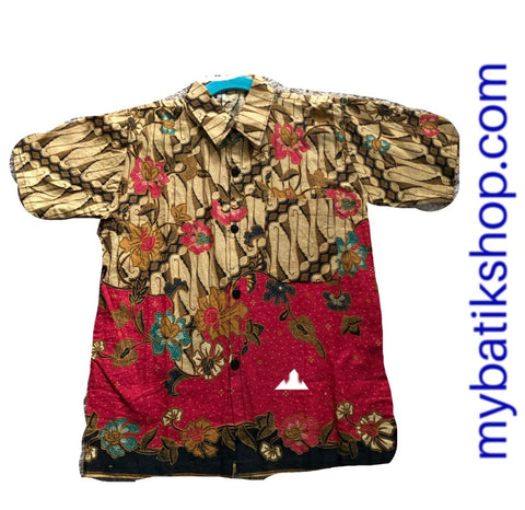 Batik for Boys Red and Brown