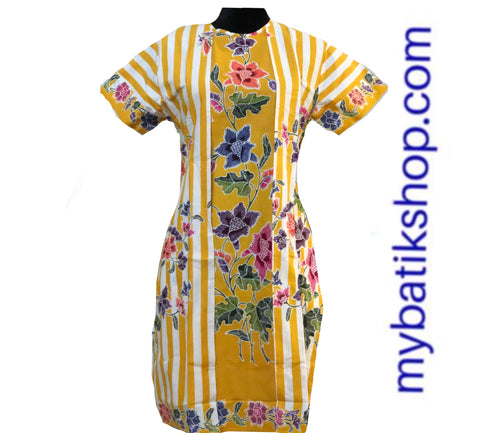 Batik Encim Dress Yellow