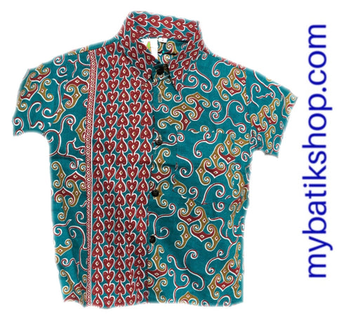 Batik for Boys Gren Red Brick