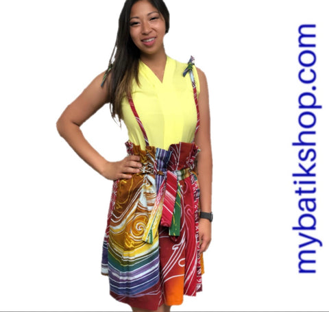Miss Batik Tulis Abstract Halter Skirt