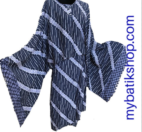 Two-piece Paris Modern Sarong Dress Blue