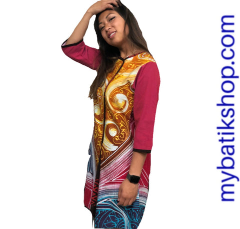 Batik Tulis Abstract Dress