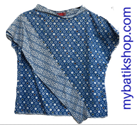 Misses Batik Blue white Polka Dots