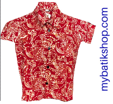 Batik for Boys Red