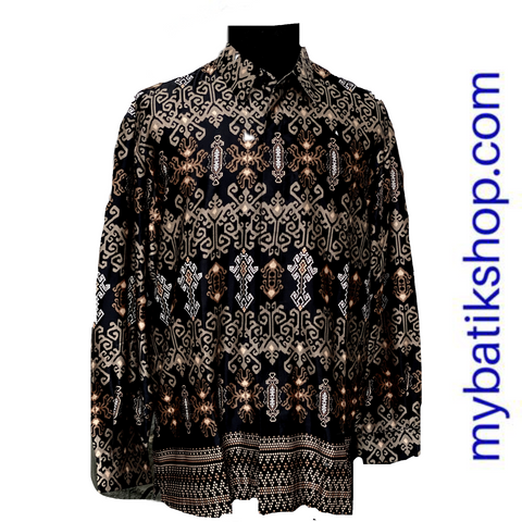 Batik for Men Semi Silk Sogan Long-sleeves