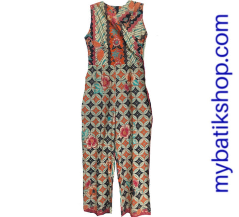 Batik Orange Jumpsuit