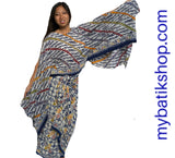 Mix 'n Match Paris Modern Sarong Dress Blue Semi Tulis
