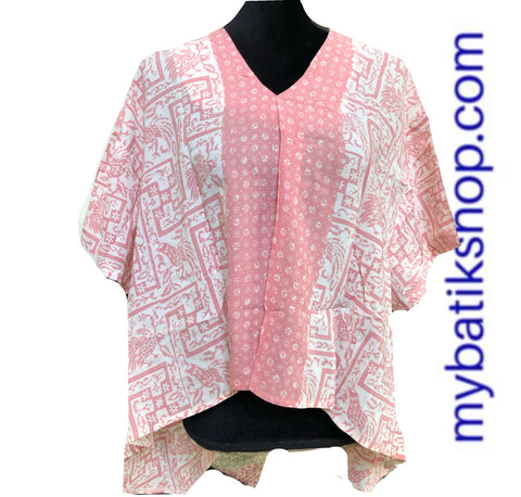 Batik Paris Top Baby Pink Oversize Short-sleeves