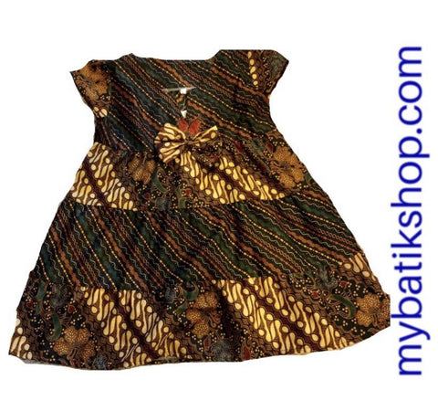Batik Dress for Toddler Girl