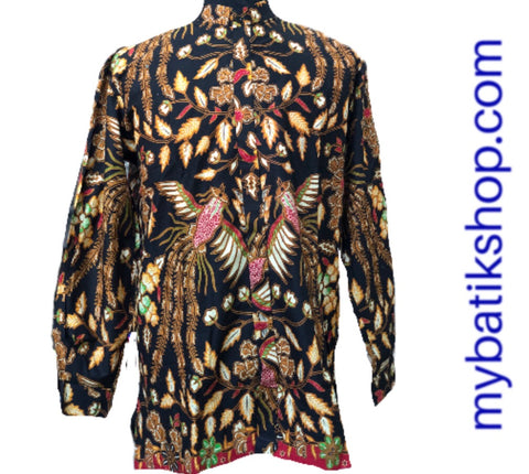 Batik Romo Koko for Men Semi Tulis Solo Long-sleeves