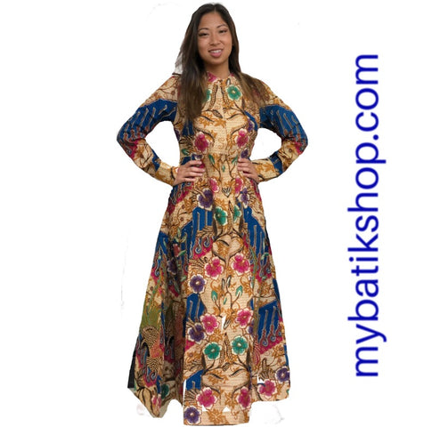 Moslem Dress Blue Multi