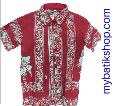 Batik for Boys Red Brick Tosca