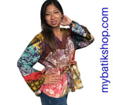 Batik Tulis Abstract Yogya Top Long-sleeves