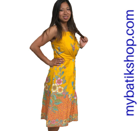 Batik Yellow Doby Dress
