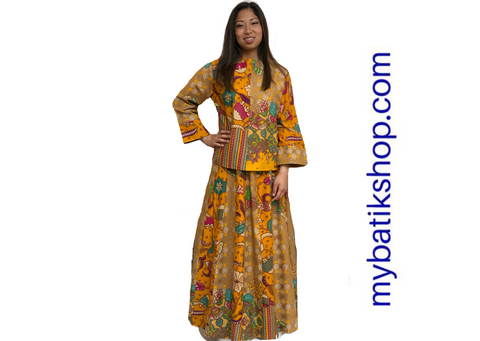gamis, halal, moslem wear, batik dress