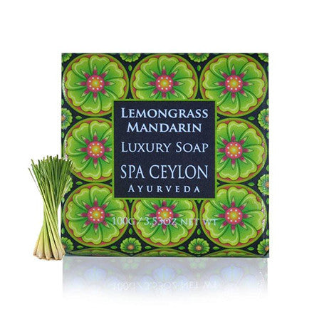 Lemongrass Mandarin Luxury Soap, BATH & BODY, SPA CEYLON AUSTRALIA