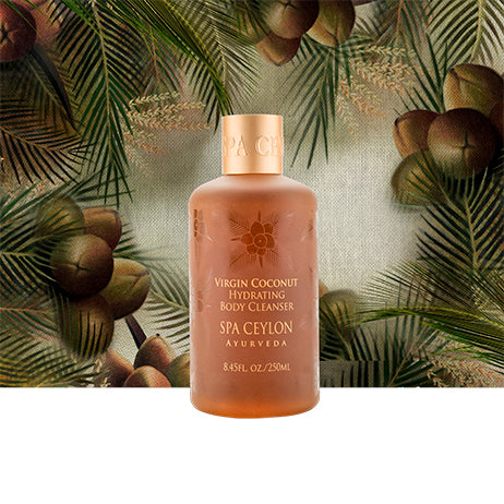 Virgin Coconut - Hydrating Body Cleanser - SPA CEYLON Natural Luxury Ayurveda Bath & Shower Gel