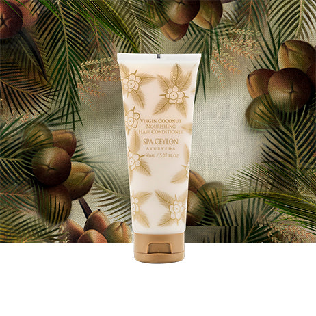 Virgin Coconut - Nourishing Hair Conditioner - SPA CEYLON Natural Luxury Ayurveda BATH & BODY