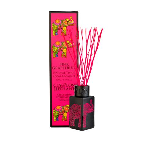 CEYLON ELEPHANT - PINK GRAPEFRUIT NATURAL TWIG ROOM AROMIZER - SPA CEYLON Natural Luxury Ayurveda Home Aroma SPA CEYLON Australia