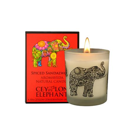 CEYLON ELEPHANT - SPICED SANDALWOOD NATURAL CANDLE - SPA CEYLON Natural Luxury Ayurveda General SPA CEYLON Australia