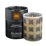SENSUAL SANDALWOOD Aromaveda Natural Candle with Paper Tube SPA CEYLON Natural Luxury Ayurveda