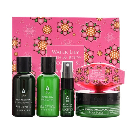 Water Lily Bath & Body Care Discovery Set - SPA CEYLON Natural Luxury Ayurveda GIFT SETS