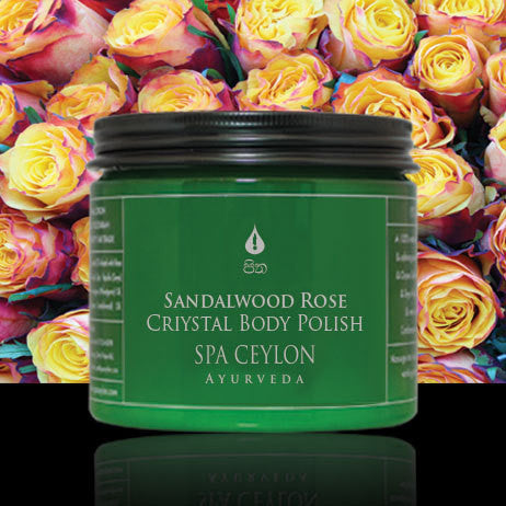 SANDALWOOD ROSE - Crystal Body Polish SPA CEYLON Natural Luxury Ayurveda