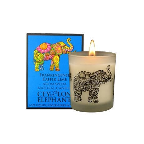 Ceylon Elephant - Frankincense Kaffir Lime Natural Candle, Home Aroma, SPA CEYLON AUSTRALIA