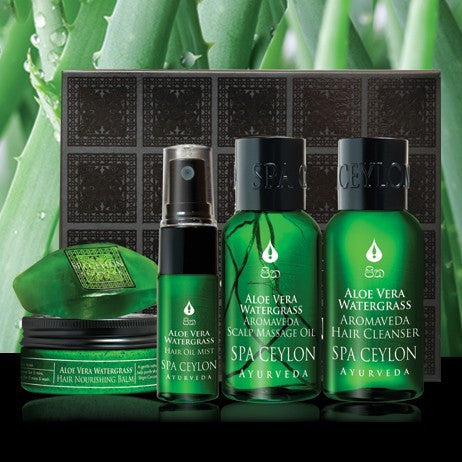 ALOE VERA WATER GRASS-SCALP & HAIR CARE DISCOVERY SET SPA CEYLON Natural Luxury Ayurveda