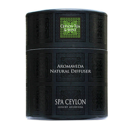 Ceylon Tea & Mint Aromaveda Natural Candle With Paper Tube, Home Aroma, SPA CEYLON AUSTRALIA