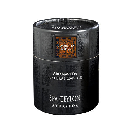 Ceylon Tea & Spice Aromaveda Natural Candle With Paper Tube, Home Aroma, SPA CEYLON AUSTRALIA