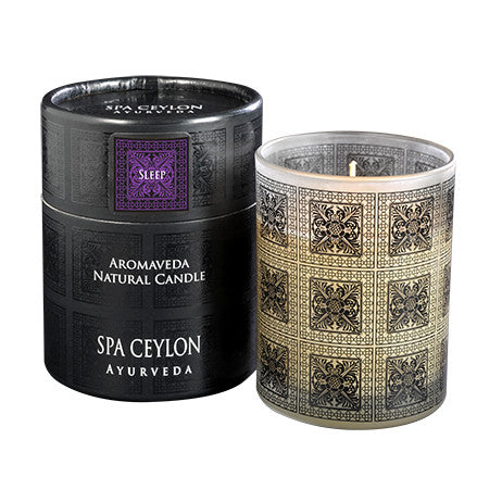 SLEEP - Aromaveda Natural Candle with Paper Tube SPA CEYLON Natural Luxury Ayurveda