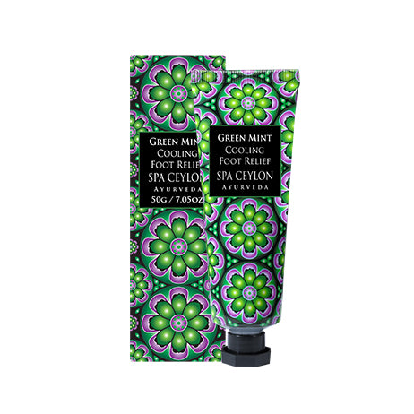 Green Mint- Cooling Foot Relief - SPA CEYLON Natural Luxury Ayurveda FOOT CARE