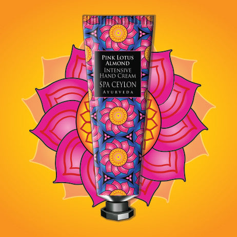 PINK LOTUS ALMOND - Intensive Hand Cream SPA CEYLON Natural Luxury Ayurveda