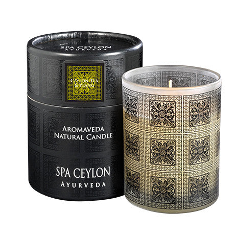 CEYLON TEA & YLANG Aromaveda Natural Candle with Paper Tube SPA CEYLON Natural Luxury Ayurveda