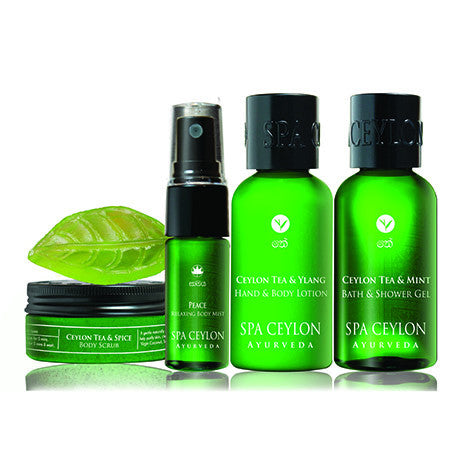 CEYLON TEA BATH & BODY CARE DISCOVERY SET SPA CEYLON Natural Luxury Ayurveda