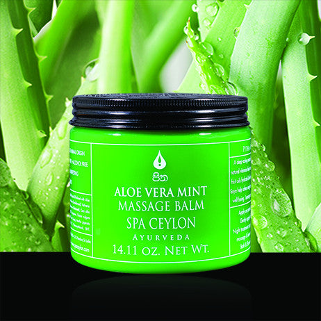 ALOE VERA MINT Massage Balm SPA CEYLON Natural Luxury Ayurveda