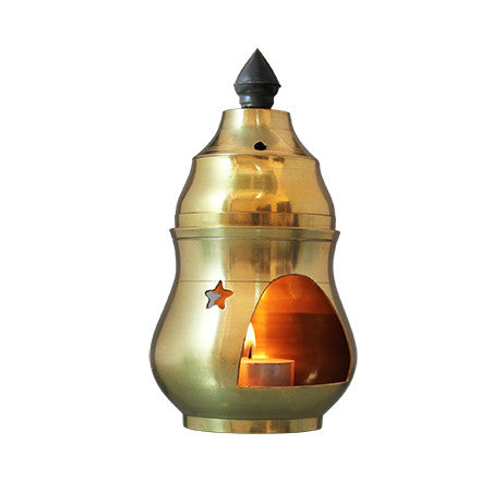 PAGODA OIL BURNER (BRASS) SPA CEYLON Natural Luxury Ayurveda