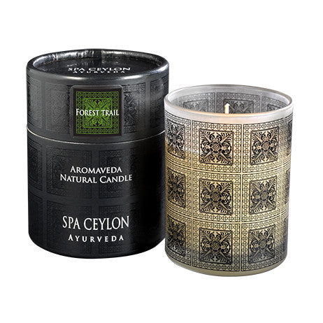 Forest Trail Aromaveda Natural Candle With Paper Tube, Candles, SPA CEYLON AUSTRALIA