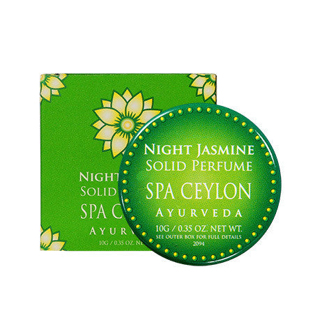 Night Jasmine Solid Perfume SPA CEYLON Natural Luxury Ayurveda