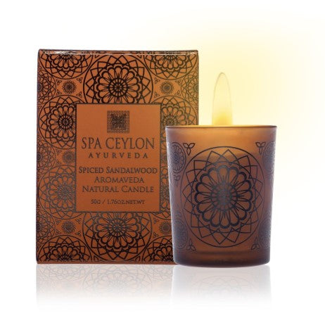 Spiced Sandalwood - Aromaveda Natural Candle