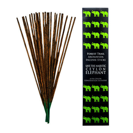 Ceylon Elephant - Forest Trail Aromaveda Incense Sticks, General, SPA CEYLON AUSTRALIA
