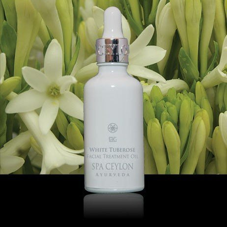 SPA CEYLON Natural Luxury Ayurveda WHITE TUBEROSE Night Repair Face Treatment Oil