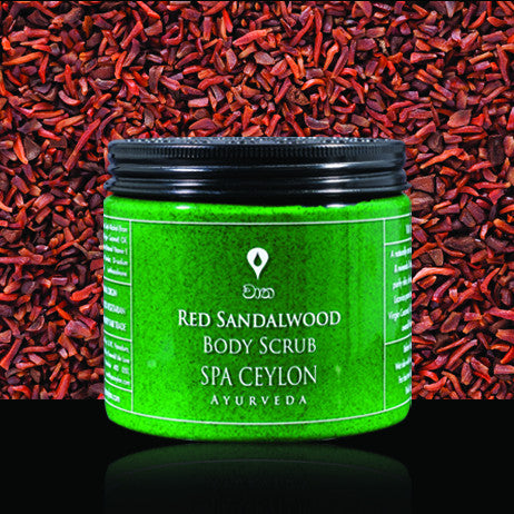 RED SANDALWOOD - Body Scrub SPA CEYLON Natural Luxury Ayurveda