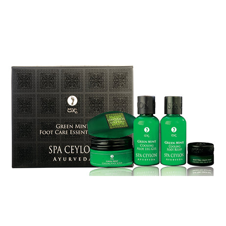 Green Mint Foot Care Essential Set - SPA CEYLON Natural Luxury Ayurveda GIFT SETS