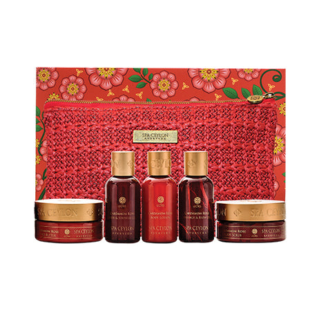 Cardamom Rose - Home Spa Set - SPA CEYLON Natural Luxury Ayurveda GIFT SETS